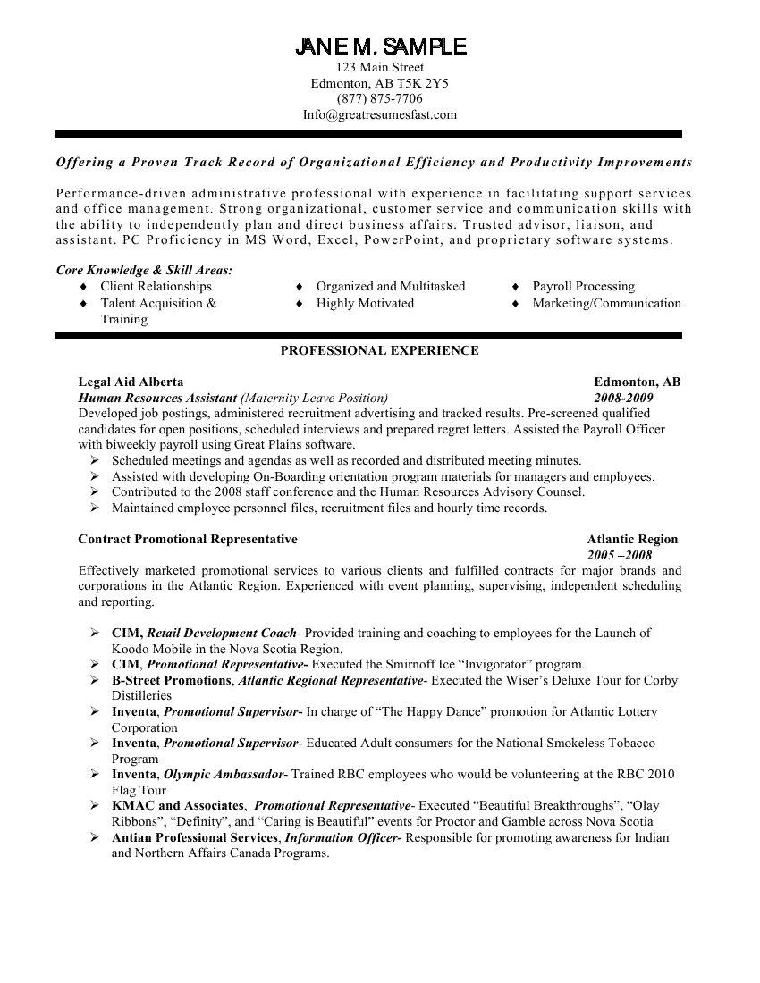 example of general manager resume