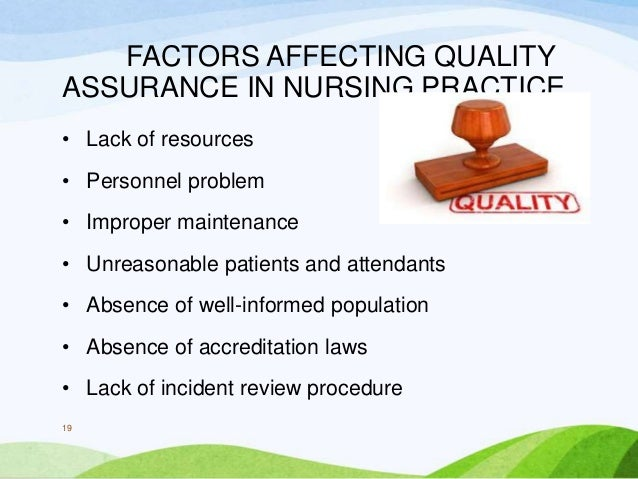 example of quality assurance in nursing practice