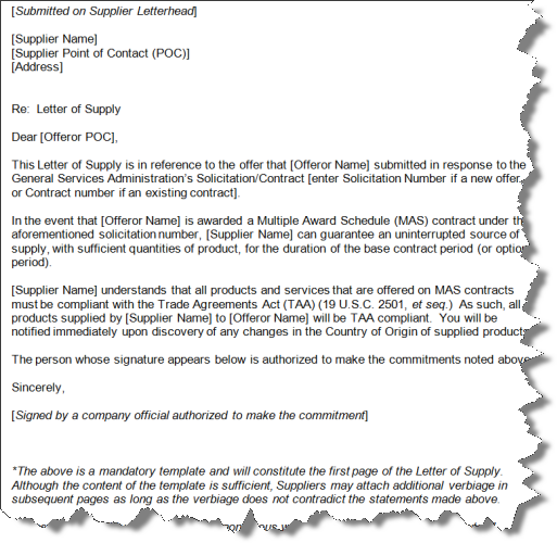 proposal letter example for supply of goods