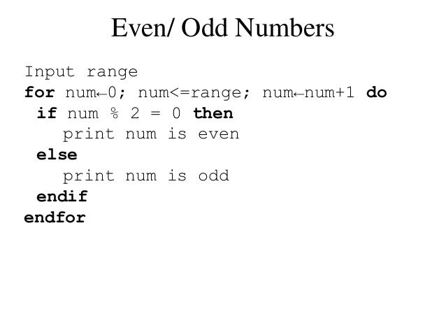 what is odd number with example