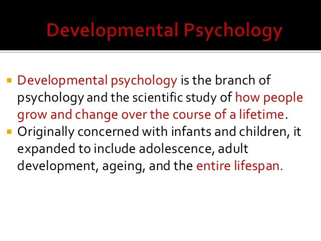 what is developmental psychology example