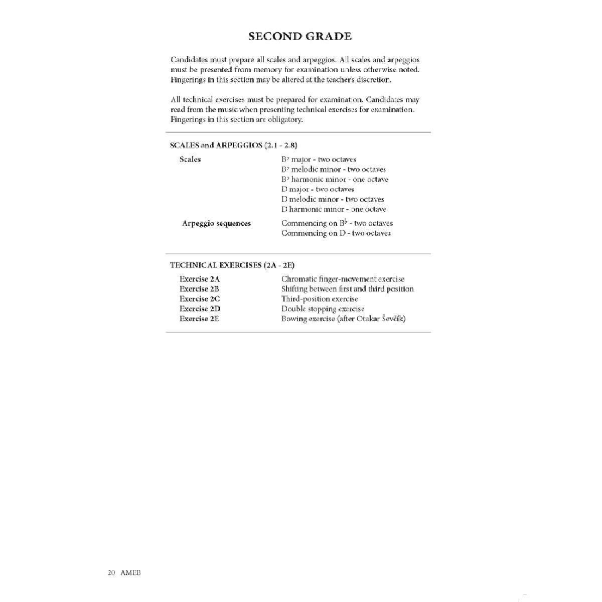 ameb grade 1 exam example