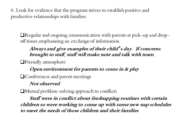 time sample observation example child care