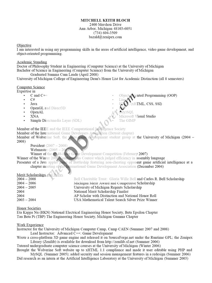example of job application letter with resume