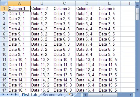 csv to excel java example