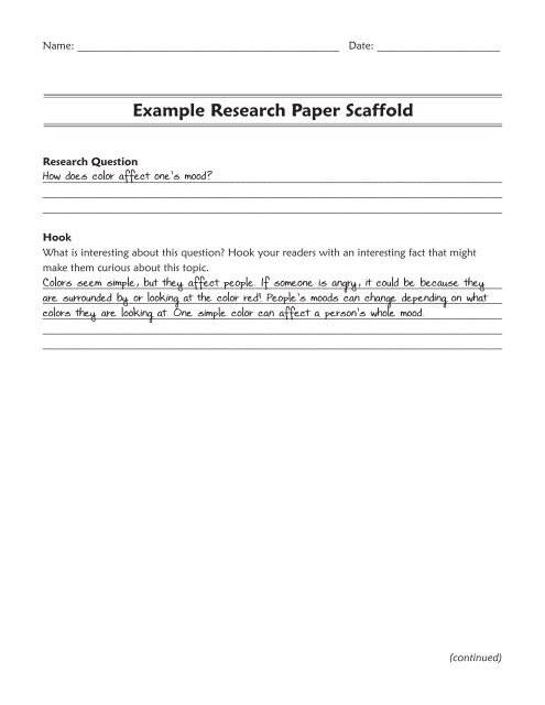 procedure psychology research paper example