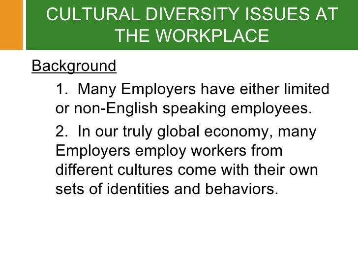 example issue in communication culture workplace