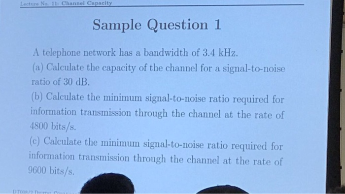calculate signal to noise ratio example