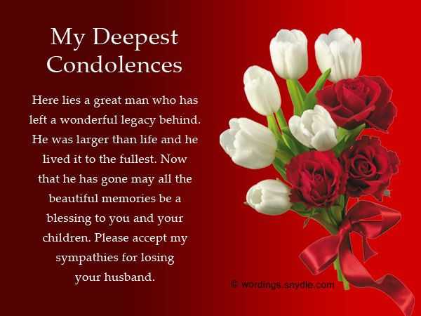 example of condolence message to a friend