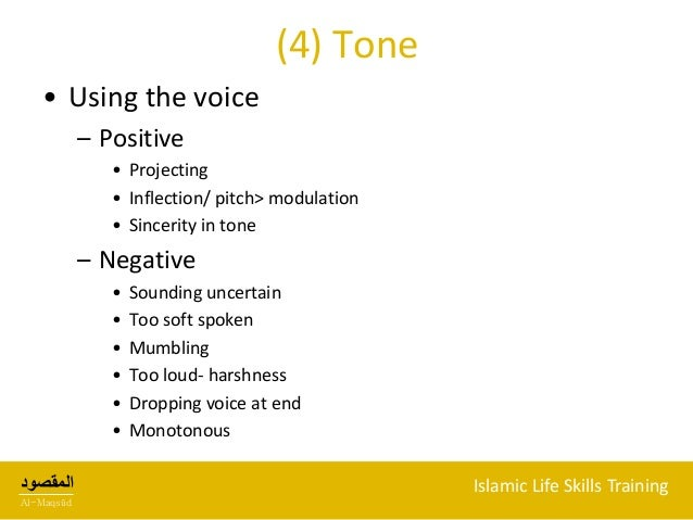 example of using pitch or tone