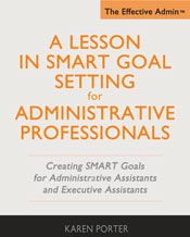 example smart goals for administrative assistants