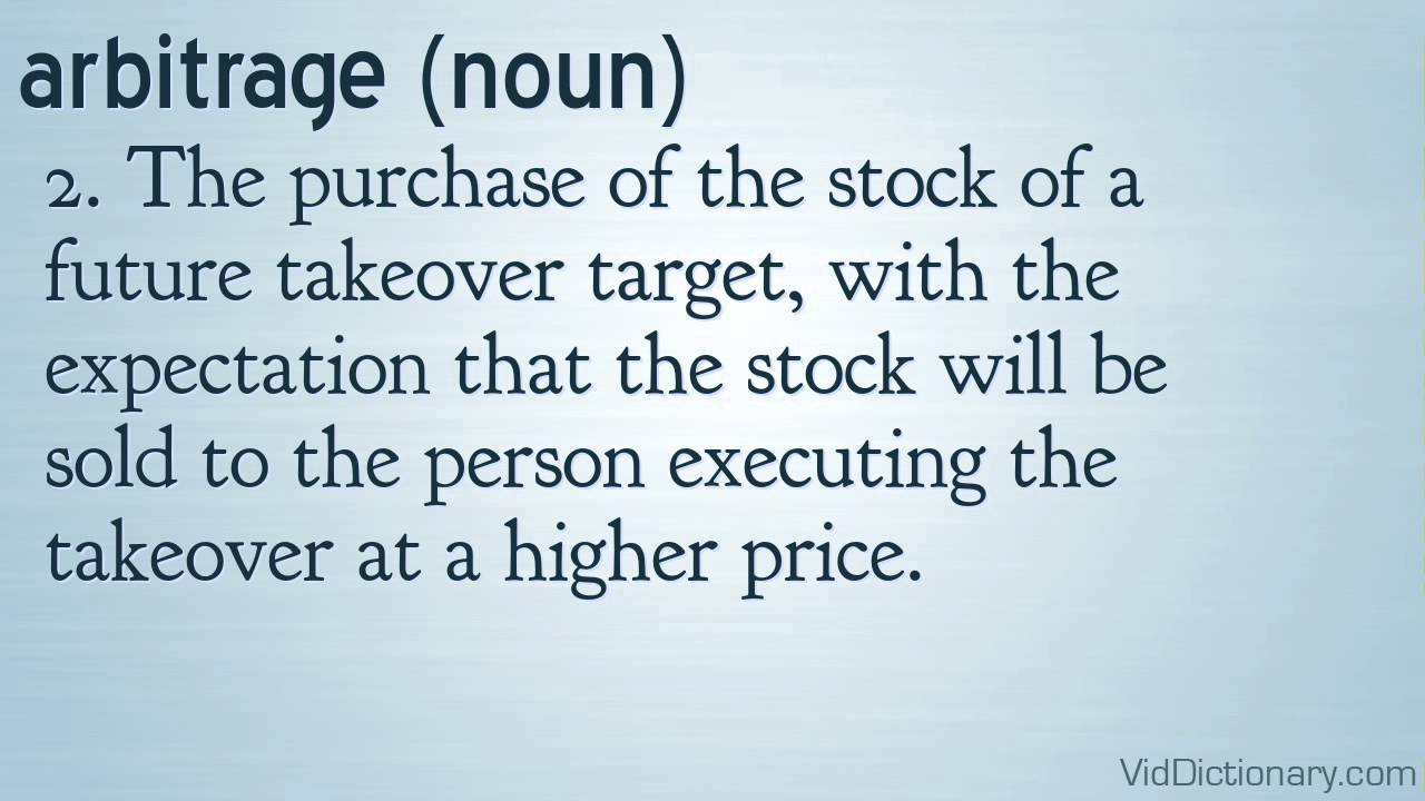 example of an arbitrage coursehero