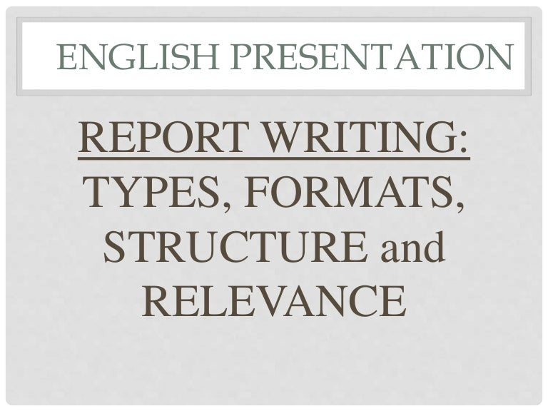 format of report writing example