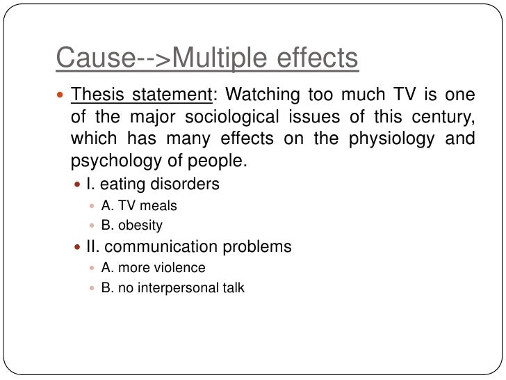 example of a cause and effect statement