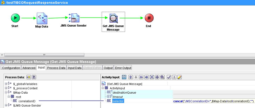 tibco ems bridge selector example