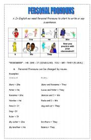 give 5 example of personal pronouns
