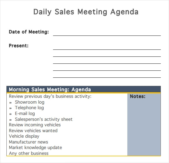 example of a business meeting review free