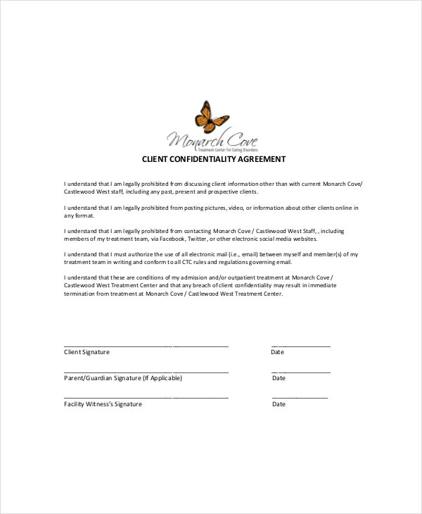example of seeking agreement of a client in childcare