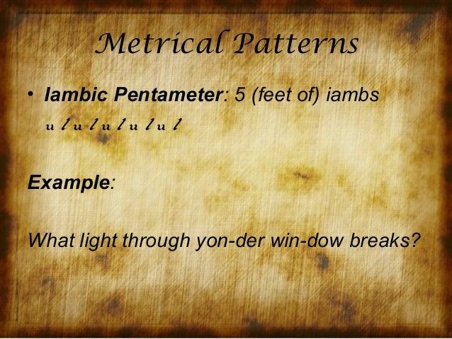 example of metrical line in poetry