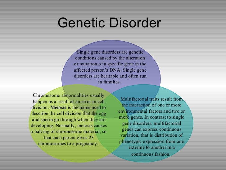 an example of a genetic disorder