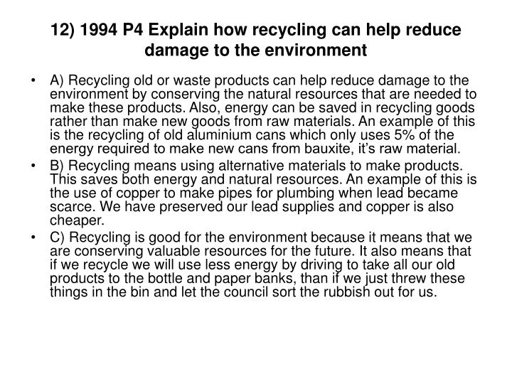 example of destroying natural resources