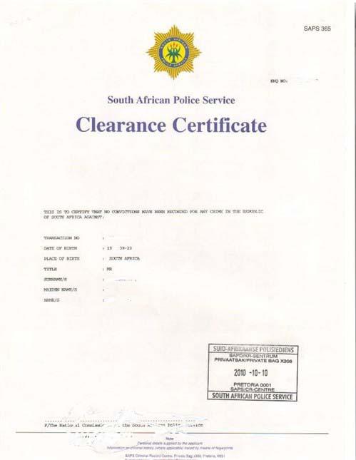 example srilankan police clerance certificate