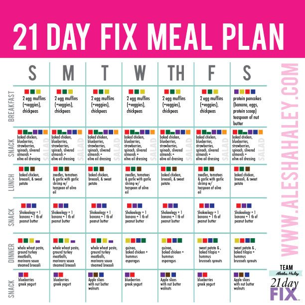 body coach example meal plan
