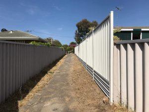 colorbond fencing colours example surfmist