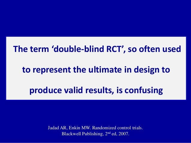 example of a critical appraisal of a randomised control trial