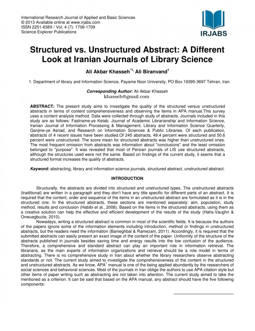 abstract example for scientific paper