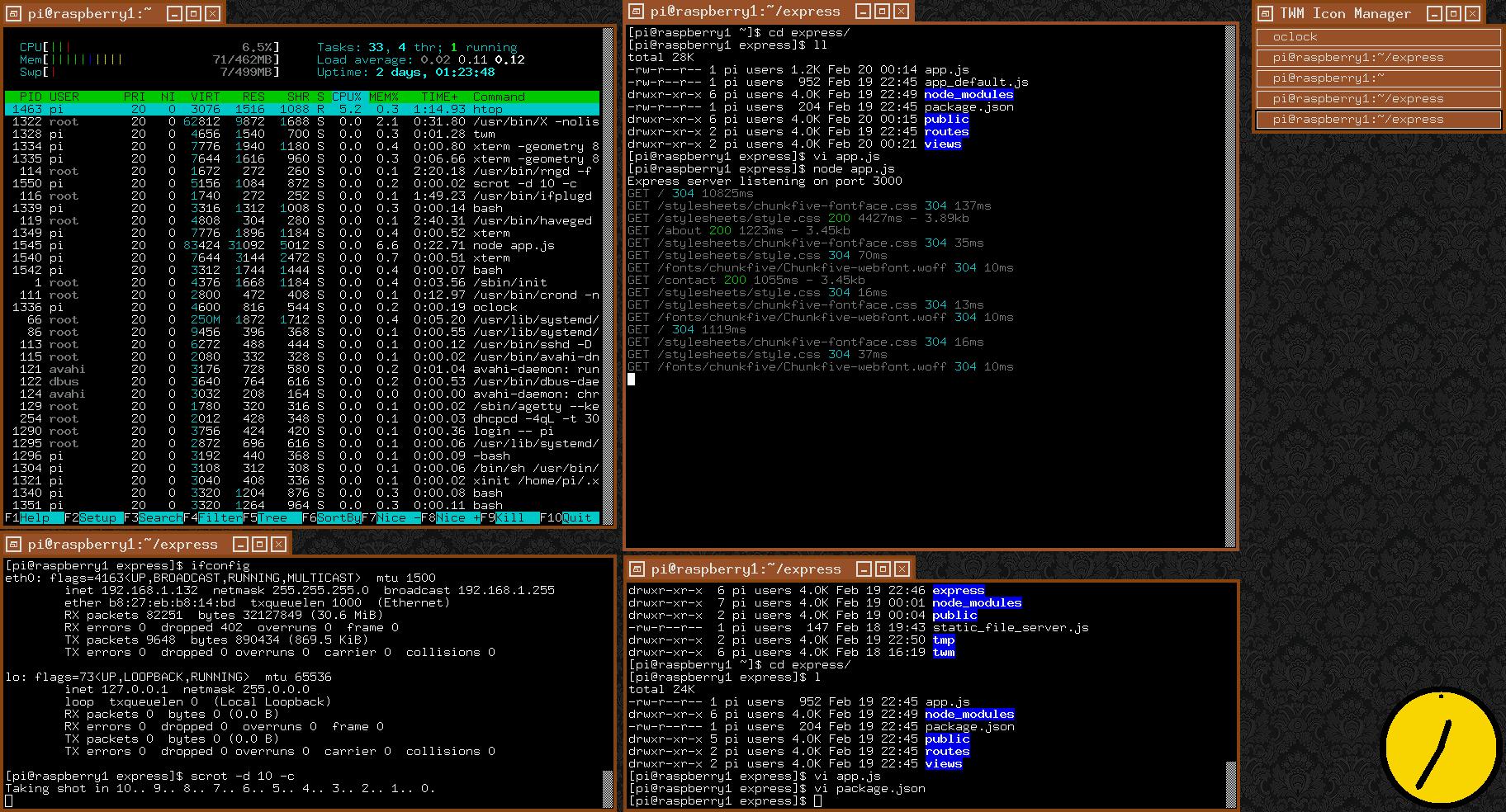 node js express login example