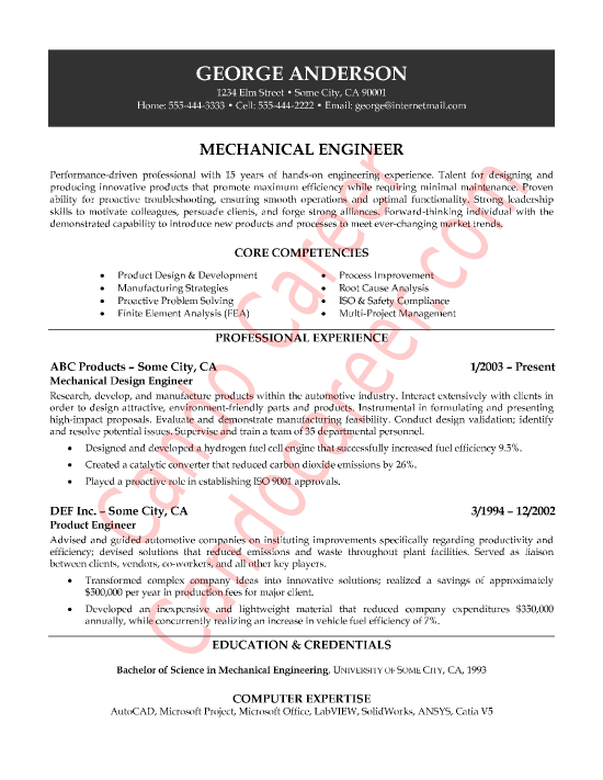 mechanical engineering research paper example