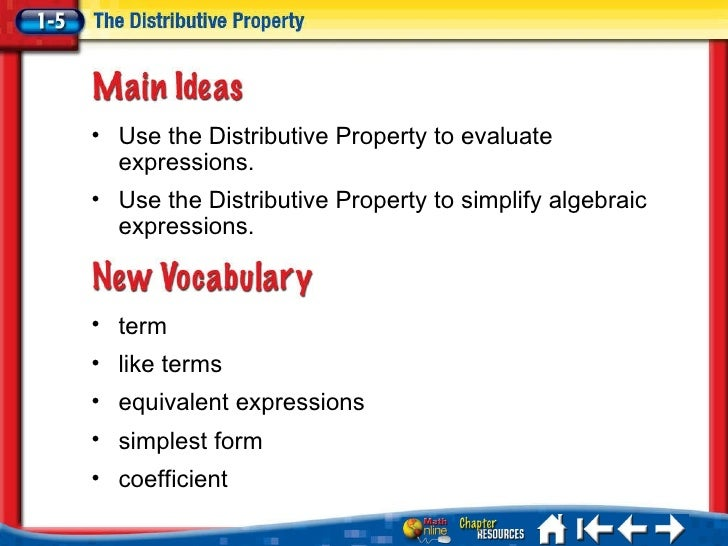 what is an example of distributive property