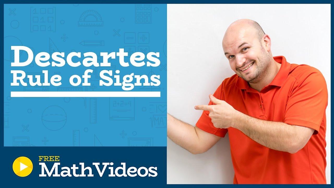 descartes rule of signs example negative real zeros