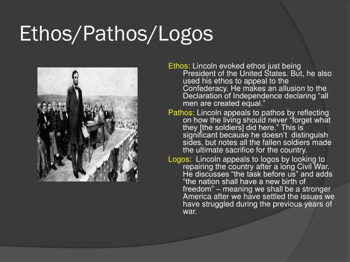 most iconic example of ethos pathos in speech