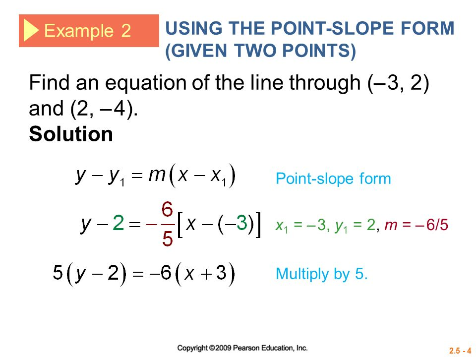 two point form example solution