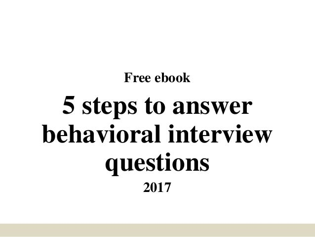 behavioral interview questions example answers