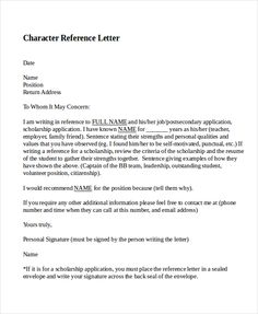 character reference letter criminal court example