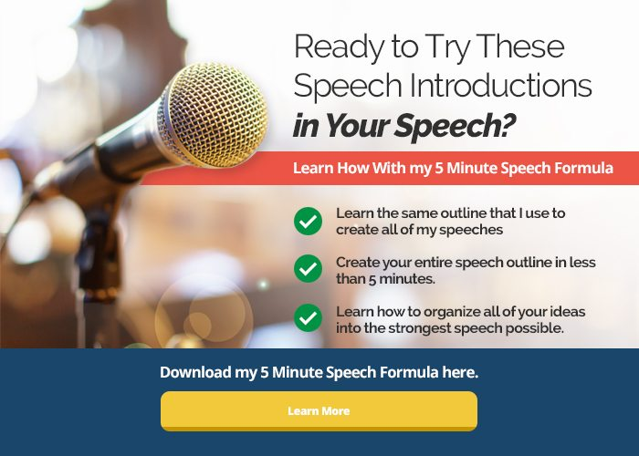 how to introduce someone in a speech example