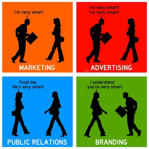 difference between advertising and public relations with example