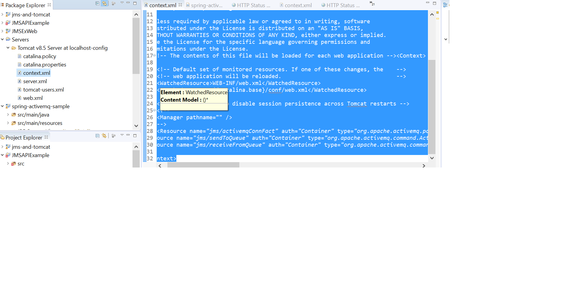 activemq message listener example java