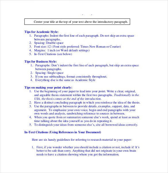 apa cover letter format example