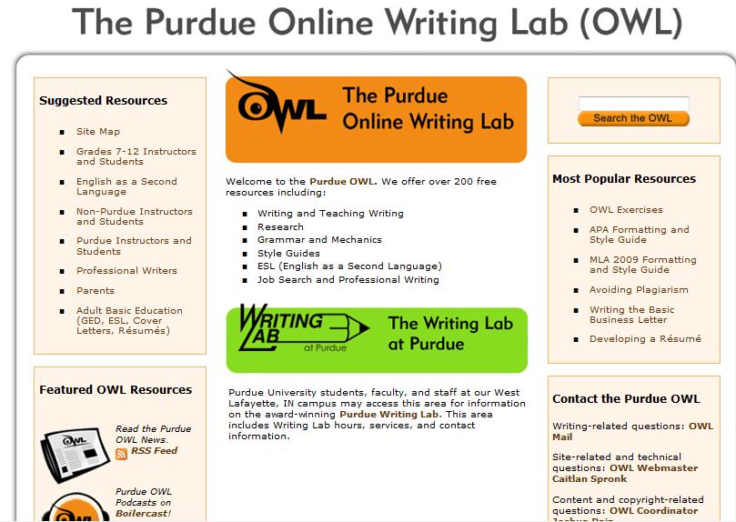 apa format purdue owl example