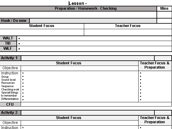 smart teacher professional learning plan example