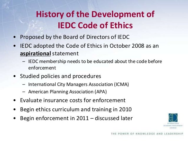 basic code of ethics example