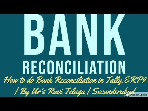 bank reconciliation statement example in tally