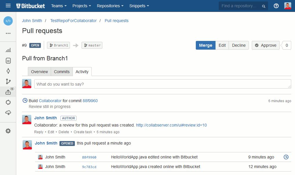 bitbucket rest api pull request example