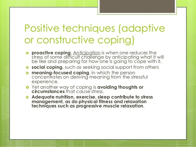 which of these is an example of problem focused coping