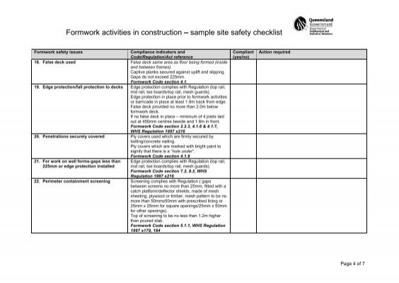 construction site safety plan example