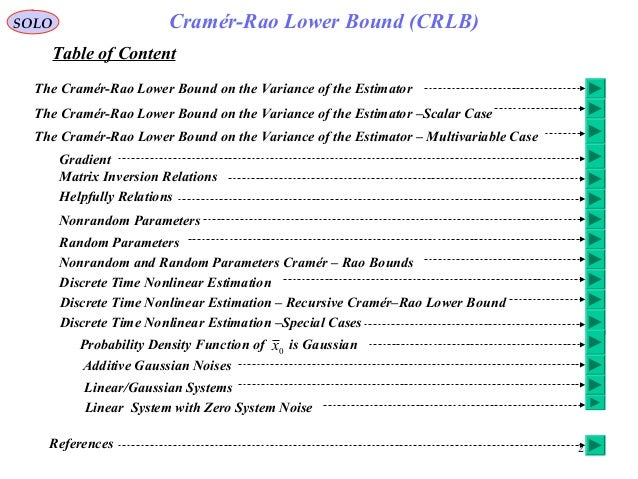 cramer rao lower bound example